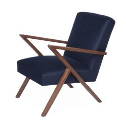 Retrostar© Chair Velvet Line | Navy Blue