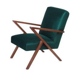 Retrostar© Chair Velvet Line | Hunter Green