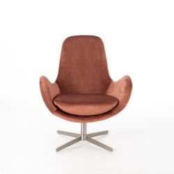 Fauteuil RE035RA | Rose velours