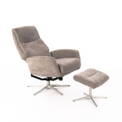 Reclining Relax Armchair H90 cm | Light Grey