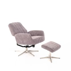 Reclining Relax Armchair H74 cm | Light Grey