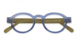 Reading Glasses Circle Twist | Blue/Lime