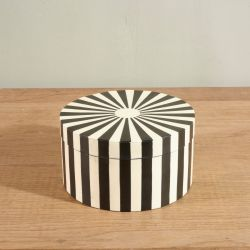 Round Box Stripes | Black & White