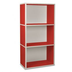 Rectangle Plus 3 Boekenkast | Rood