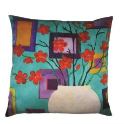 Design Pillow Red Blossom