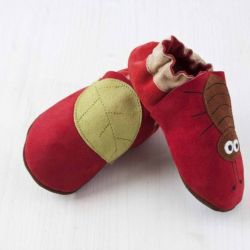 Red Little Beetle Softsole Shoes