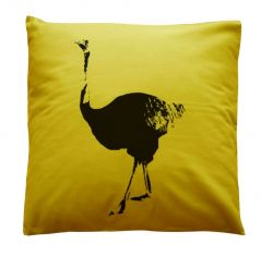 Small Cushion Curry Ostrich