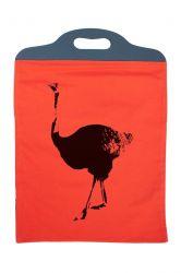 Handbag Ostrich Orange