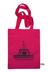 Shopping Bag Eiffel Pink