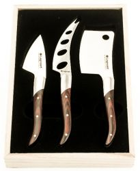 Cheese Knives Reggio Set of 3 | Dark Wood