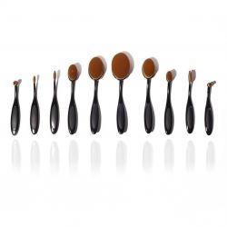 Set of 10 Make-up Brushes | Black