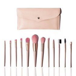 Set of 12 Make-up  Brushes | Pink
