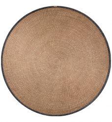 Round Vinyl Floor Mat Reed