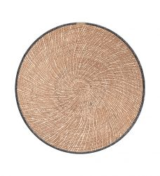 Round Vinyl Placemat Reed | Light Brown