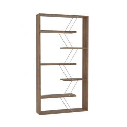 Bookcase Tars | Walnut & Chrome