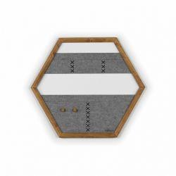 Geometric Organizer Tuva | Wood & Grey & Black Details