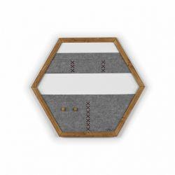 Geometric Organizer Tuva | Wood & Grey & Brown Details