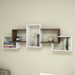 Shelf Berril | White & Walnut Wood