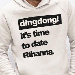 Hoodie | Männer | Es ist Zeit für ein Date mit Rihanna