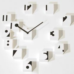 Horloge RND Time Optical | Blanc