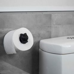 Toilet Roll Holder Roll Meo | Black