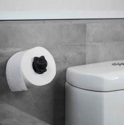 Toiletrolhouder Roll Meo | Zwart