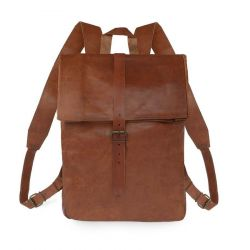 Leather Backpack | Men's Roll Top