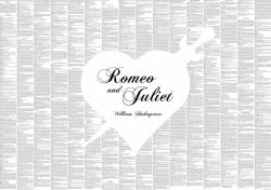 "Tekstposter ""Romeo & Juliet"""
