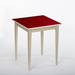 Bennie Table d'Appoint | Rouge Rubis
