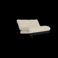 Sofa Bed Roots 140 | Black/Beige