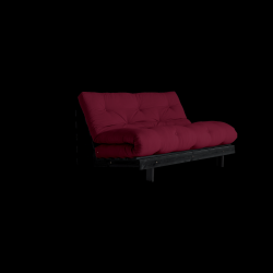 Sofa Bed Roots 140 | Zwart/Bordeaux
