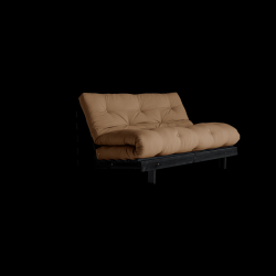 Sofa Bed Roots 140 | Zwart/Mokka