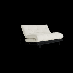 Sofa Bed Roots 140 | Black/Natural