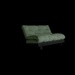 Sofa Bed Roots 140 | Black/Olive Green