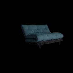 Sofa Bed Roots 140 | Black/Petrol Blue