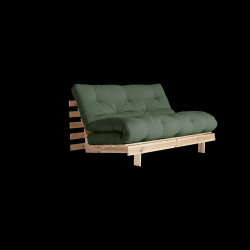 Sofa Bed Roots 140 | Raw/Olive Green