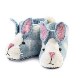 Kinderpantoffeln Rory-Hase | Blau