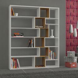 Bücherregal Roscoe | Weiß & heller Mokka