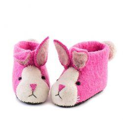 Kinderpantoffeln Rosa Kaninchen | Rosa
