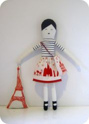 I Love Paris Doll Blue
