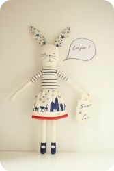 I Love Paris Rabbit Blue