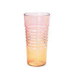Glas Ombre Hoog | Roze Oranje