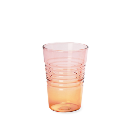Glas Ombre Low | Rosa Orange