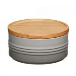 Jar with Wooden Lid | 0.7 L | H 6 cm | Grey