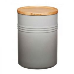 Jar with Wooden Lid | 2.1 L | H 19 cm | Grey