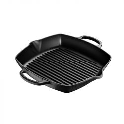 Square Grill Pan with 2 Handles | Cast Iron | 30 cm | Black