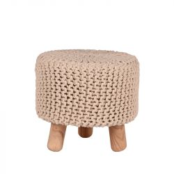 Knitted Stool Kota | Natural