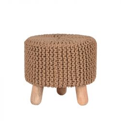 Knitted Stool Kota | Beige