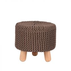 Knitted Stool Kota | Dark Grey