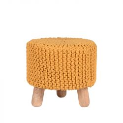 Knitted Stool Kota | Yellow